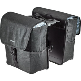 Basil Go Double Pannier 32L, solid black
